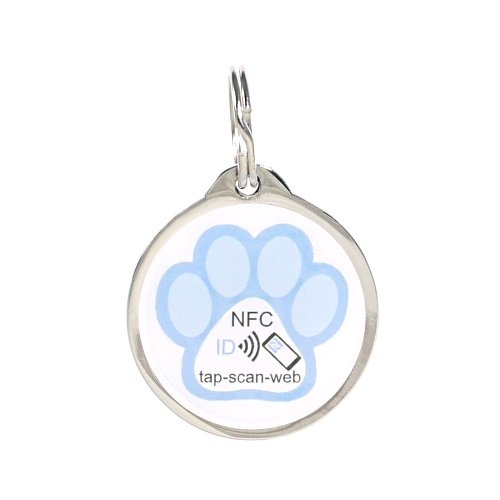 pettouchid-smart-pet-id-tag-blue-paw-qr-code-nfc-gps-enabled