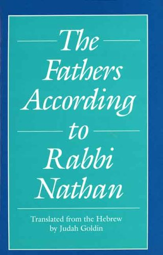 Fathers According to Rabbi Nathan, JUDAH GOLDIN