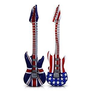 Aufblasbare Gitarre Luftgitarre USA England Rock