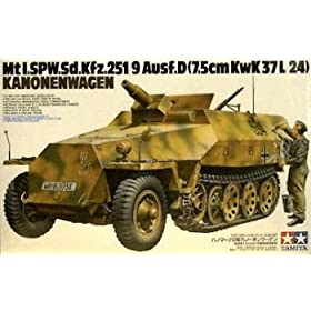 German Sdkfz 251-9 Kanowagen Military Model Kit