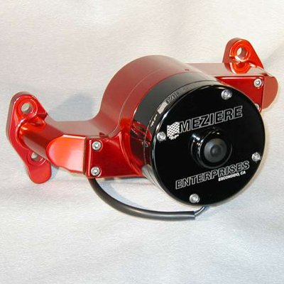 Meziere Wp101R Red Billet Electric Water Pump For Small Block Chevy