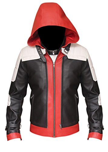Jason rosso BATMAN ARKHAM KNIGHT Todd-Giacca gilet & in vera pelle Red,Black, White XXX-Large