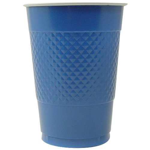 Lowest Prices! Hanna K. Signature Collection 50 Count Plastic Cup, 16-Ounce, Blue