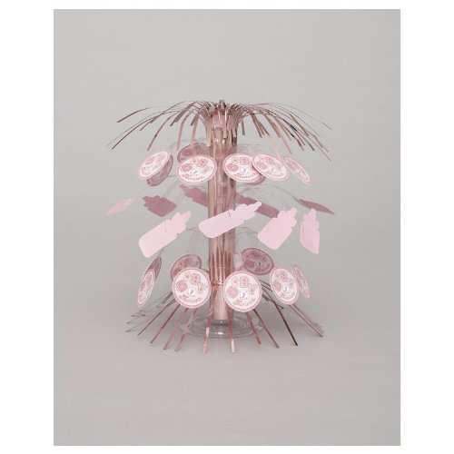 "8.5"" Pink Stitching Baby Shower Cascade Centerpiece"