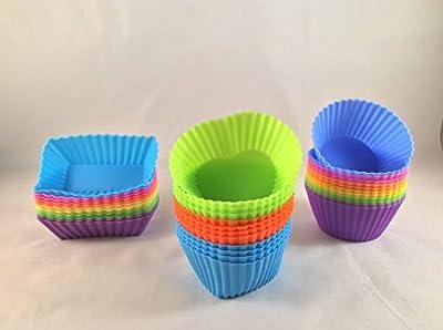 KOUZINA 36 Baking Cups - Freshware Silicone Molds