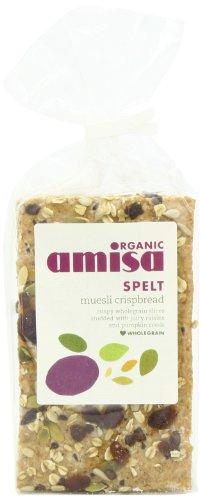 Amisa Organic Spelt Muesli Crispbread 200 g (Pack of 6)