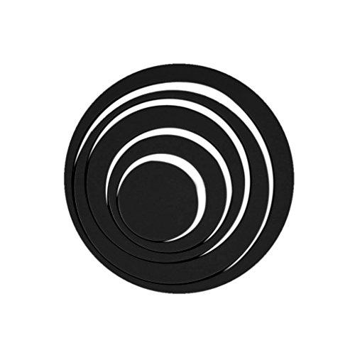QHGstore Circles 3D Anello adesivi murali camera da parati Home Decor Nero