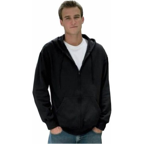 Fruit of the Loom Adult Cotton-Rich Hooded Zip Sweatshirt in Athletic Heather - XX-Large