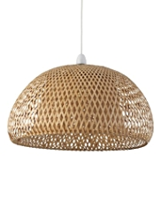 Bamboo Lattice Shade Ceiling Lamp