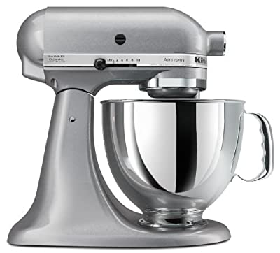 KitchenAid KSM150PSSM Artisan Series 5-Quart Stand Mixer, Silver Metallic by Kitchenaid