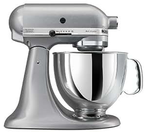 KitchenAid KSM150PSSM Artisan Series 5-Quart Stand Mixer, Silver Metallic