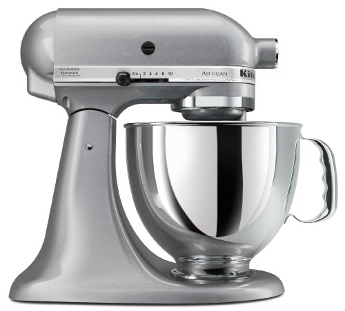 KitchenAid KSM150PSSM Artisan Series 5-Quart Stand Mixer, Silver Metallic (Kitchen Aid Stand Artisan Mixer compare prices)