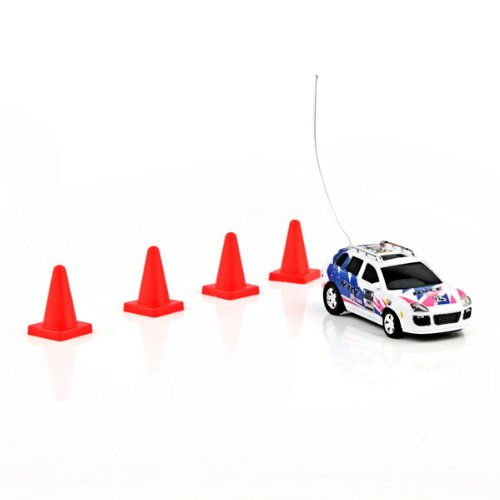 Can Mini Rc Radio Remote Control Micro Racing Car Blue Random Color