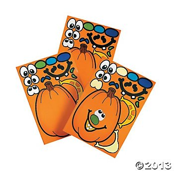 2 Dozen (24) MAKE a Jack O'Lantern/PUMPKIN Sticker Sheets/HALLOWEEN Party CRAFT ACTIVITY/FAVORS/After School/Scouting/DAYCARE - 1