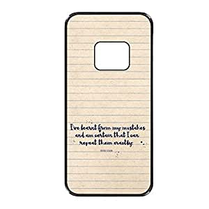 Vibhar printed case back cover for Samsung Galaxy S6 Learned
