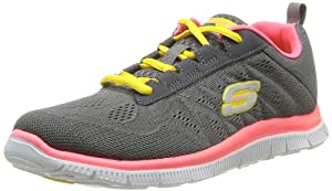 Skechers Flex Appeal Sweet Spot, Damen Sneakers, Grau (CCHP), 37 EU (4 Damen UK)