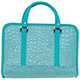 Gigi Chantal Turquoise Faux Alligator Bible Cover