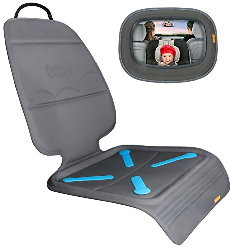 Brica Car Seat Guardian Mat With Back Seat Mirror front-860582