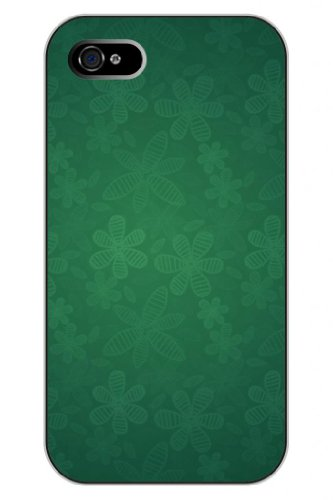 Sprawl New Fashion Design Hard Skin Case Cover Shell For Mobile Phone Apple Iphone 4 4S 4G--Cute Green Leaves