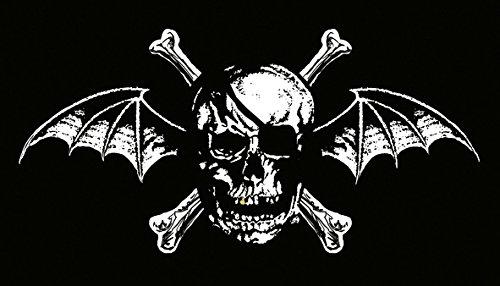 Heart Rock Licensed Bandiera Avenged Sevenfold - Death Bat, Tessuto, Multicolore, 110X75X0,1 cm