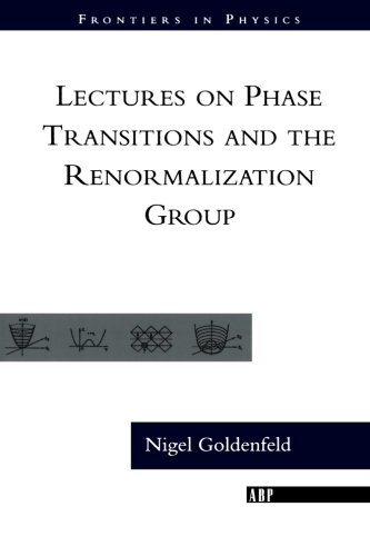 Lectures On Phase Transitions And The Renormalization Group (Frontiers in Physics), by Nigel Goldenfeld