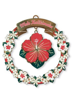 Hawaiian Hibiscus Christmas Ornament