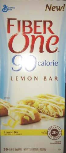 Fiber one 90 calorie lemon bar 38 count (016000410664)