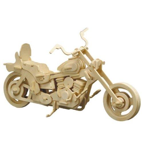 Holz Bausatz Harley Chopper Motorrad 96-tlg. 30x18 cm Steckbausatz f. Kinder Holzbausatz