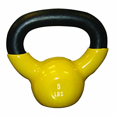 Cando 10-3191 Yellow Kettle Bell 5 Lbs Weight from Cando