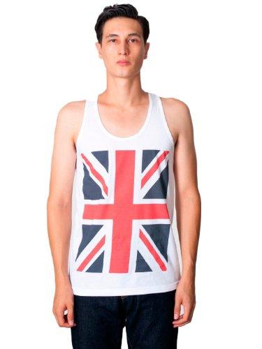 American Apparel Union Jack Print Fine Jersey Tank - RWB Union Jack Flag / L