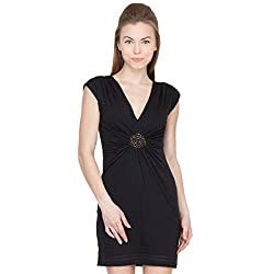 Species Women's A-line Dress (S-4367_Black_Medium)
