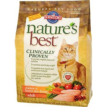 See Hill's Science Diet Nature's Best Adult Chicken & Brown Rice Dinner Dry Cat Food - 6-Pound Bag