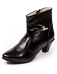 Marc Loire Women's Fab Yorker Black Block Heel Boots 36 EU