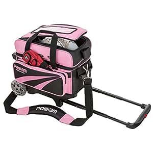 ABS ボウリング バッグ B15-1350 ボール2個用カート ピンク ボウリング用品