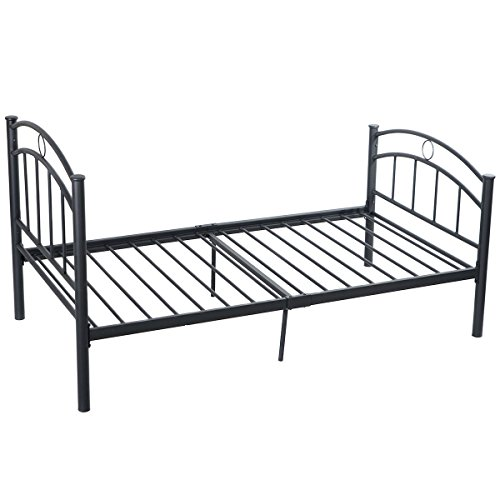Pleasant Giantex 83X42X42 Black Metal Bed Frame Platform Twin Size Bedroom Home Furniture Onthecornerstone Fun Painted Chair Ideas Images Onthecornerstoneorg