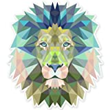 Lion Modern Art Design Vinyl Sticker - Car Phone Helmet - SELECT SIZE