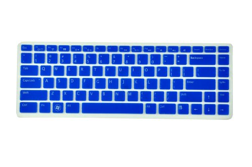 Silicone Laptop Keyboard Screen Skin Protector for Dell XPS L502 L502x, Inspiron M5040 N5040 N5050 N4110 N4120 N4050 N411z 7520 5420, Vostro 3350 V3350 3450 V3450 V3460 3550 3555 V1440 V1450 V131 US Layout (Dispirited Semitransparent)
