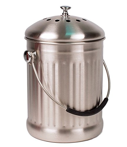 stainless-steel-kitchen-countertop-compost-bin-with-silicone-grip-by-earth-cycle-1-gallon