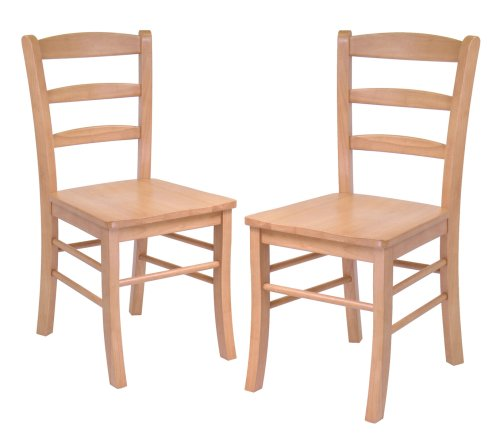 Winsome Wood Ladder Back Chair, Set of 2