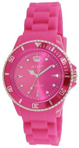 Jet Set J18314-55 - Reloj analógico de cuarzo para mujer, correa de caucho color rosa