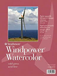 6X9 WINDPOWER WATERCOLOR 15 SHEET PAD by Strathmore