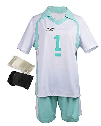 Haikyuu Costume Uniform Oikawa Cosplay (M-L) with Knee Pads
