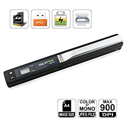 HooToo® High Resolution 900DPI Portable Scanner, Mini SKYPIX Handy Handheld, A4 Color Photo, Easy to instantly scan and digitize anything