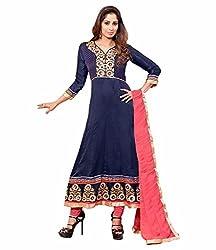 TFW Blue Salwar Kameez Semi Stitched Georgette Dress Material