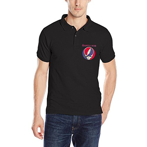 Men's Steal Your Face Live Grateful Dead Polo Shirt Polo Style Novelty (Grateful Dead Tire Cover compare prices)
