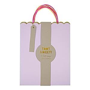 Amazon.com - Meri Meri Pastel And Neon Large Gift Bags -