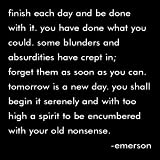 Finish Each Day - Emerson Black and White Magnet