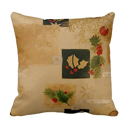 Christmas Decorative Pillow Cases : Maliyna Hints Of Holly Christmas Decorative Throw Pillow Case Cushion Cover 20