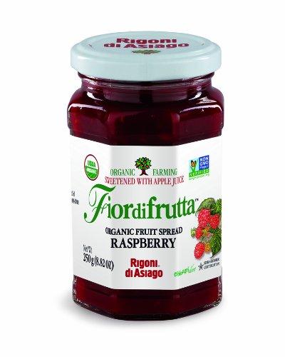 Rigoni Di Asiago Fiordifrutta Organic Fruit Spread, Raspberry, 8.82 Ounce, 6-jars