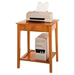 Office Printer Utility Stand, Honey Pine, Multifunctional Table with One Drawer